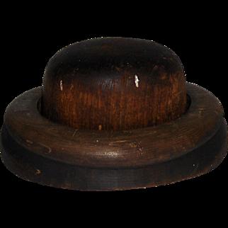 Hoff-Man 2 Piece Wooden Hat Block Millinery Mold #4