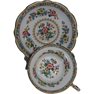 E. B. FOLEY Cup and Saucer Ming Rose Pattern