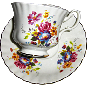 Royal Albert Bone China Floral Patterned Cup and Saucer