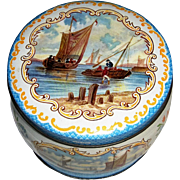 Huntley & Palmers Biscuits Tin with Sail Boats