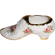 Paragon China Decorative Shoe in Elizabeth Rose Pattern