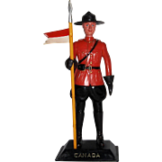 Vintage Plastic Mountie or RCMP Figure  7 1/2""