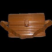 Vintage Wooden Slat Purse