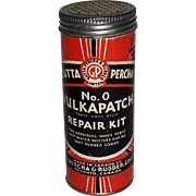Gutta Percha No. 0 Vulkapatch Repair Kit Container with Content