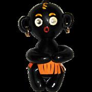 Dakko Chan Winking, Blinking Black Vinyl Hugging Doll