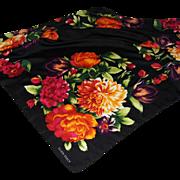 Ellen Tracy Large Kerchief or Scarf 100% Silk