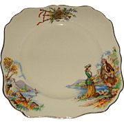 "J&G Meakin Square Plate ""PRINCE CHARLIE"" Pattern"