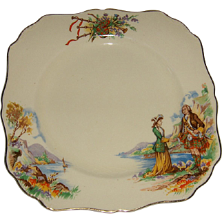 """J&G Meakin Square Plate """"PRINCE CHARLIE"""" Pattern"""