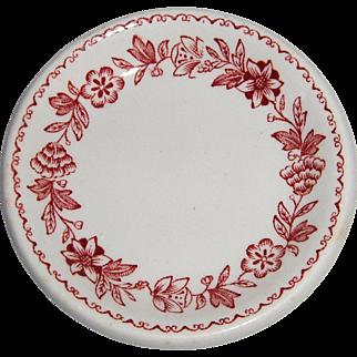 "J-E Heath Vitrified Butter Pat ""ERICA"" Pattern"