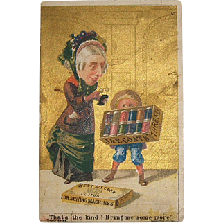 Vintage Trade Card for J. & P. Coats Thread
