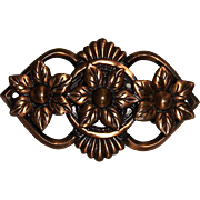 Copper Flowers Brooch Pin