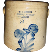 W. S. Morrison General Merchant, Sprucedale open 3 gal. Crock