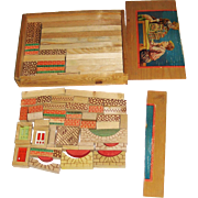 Box of Vintage Wooden Building Blocks Made in Germany