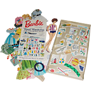 Barbie Paper Doll Travel Wardrobe with Clothes of Other Lands