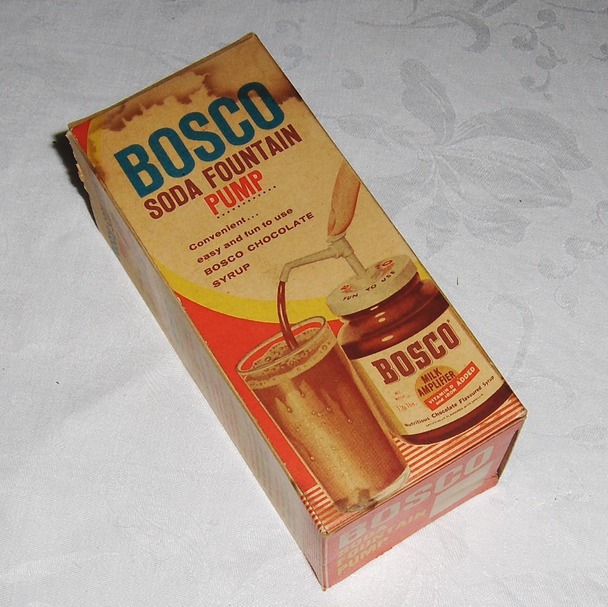Vintage Bosco Soda Fountain Pump with Original Box from decrepit ...