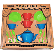 Vintage RELIABLE Plastic Tea-Time Dishes