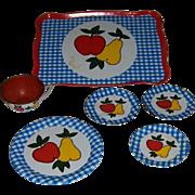 Ohio Art Co. Tin Play Dishes 6pcs. Apple & Pear