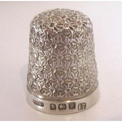 Sterling Silver Thimble Hallmarked 1926