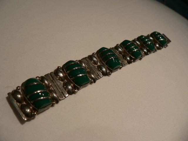 SALE!!Vintage Mexican Sterling Coffee Bean Bracelet