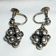 Vintage Silver John L. Earrings, Denmark