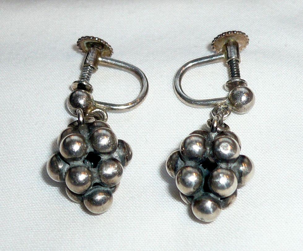 Vintage Silver John L. Earrings, Denmark