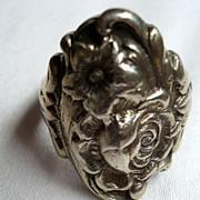 Vintage Kirk & Son Sterling Floral Ring