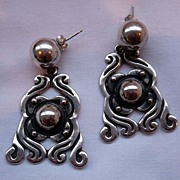 SALE! Vintage Pedro Castillo Sterling Silver Earrings