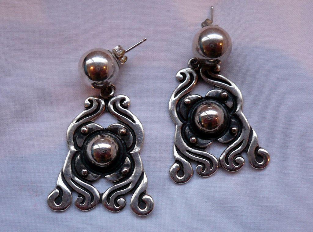 SALE! Vintage Pedro Castillo Sterling Silver Earrings