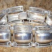 Vintage Sterling Silver Repousse Bracelet