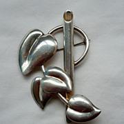 SALE! Vintage Napier Sterling Silver Posy Brooch