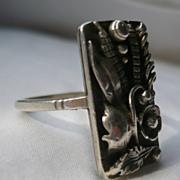 Silver Art Nouveau Ring