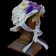 Sweet Little Bonnet for French or German Bebe