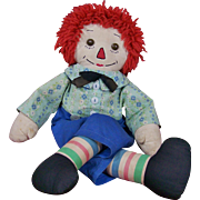 """19"""" Vintage Homemade Raggedy Andy"""