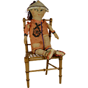 Old Homemade Chinese Cloth Doll