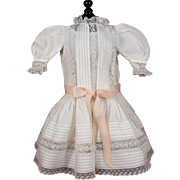Gorgeous Antique Doll Dress with 2 Slips