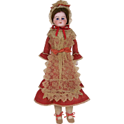 "17.5"" Sonneberg-Type Bisque Doll with Original Dress"