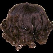 Old Human Hair Doll Wig
