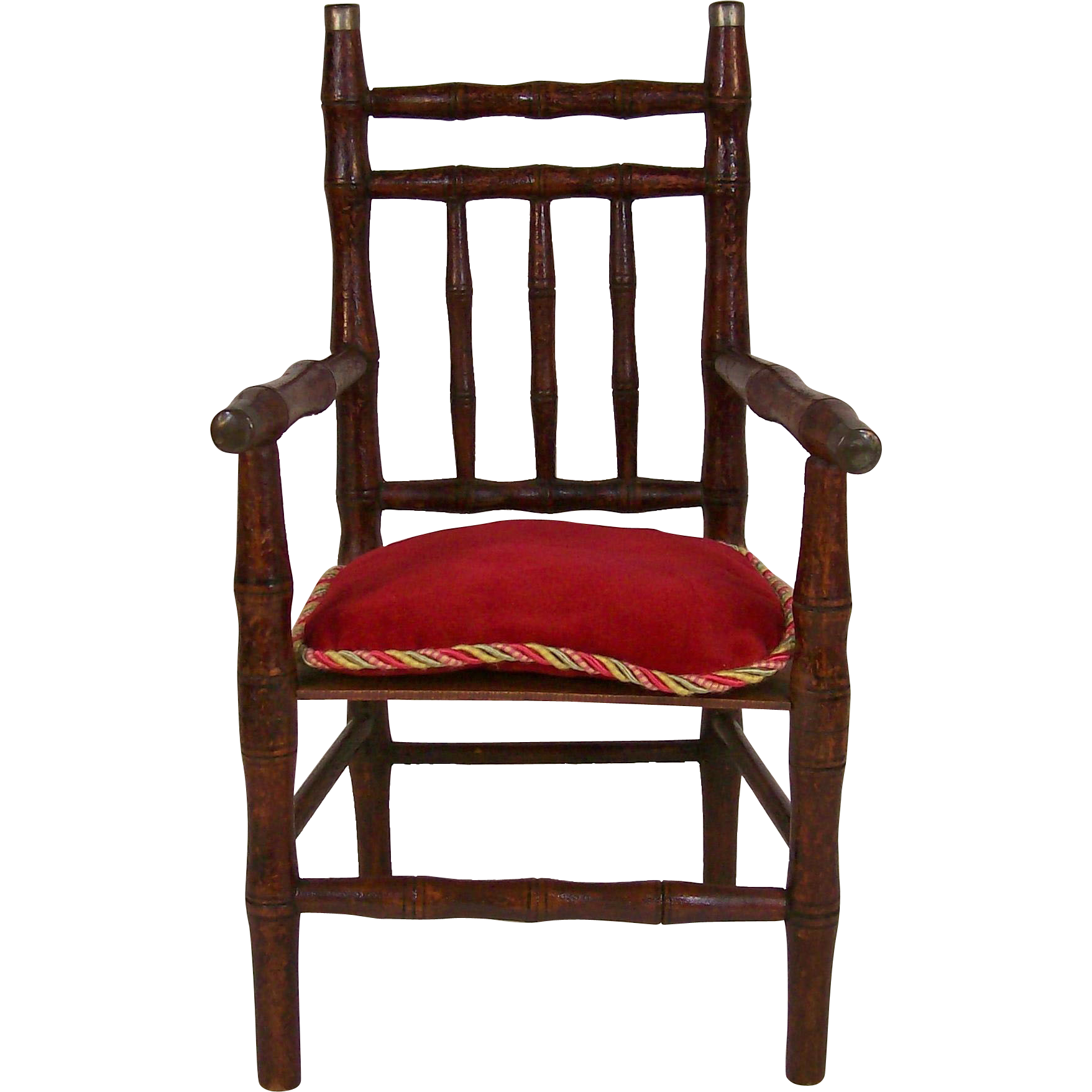 Bamboo Chair With Arms: Antique French Faux Bamboo Doll Arm Chair From Deesdolls