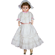 "25"" German Papier-Mache Doll ""Patent-Washable"""