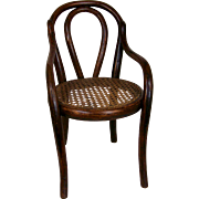 Antique Thonet-Style Bentwood Doll's Chair