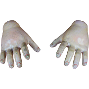 Pair of Large Antique German Doll Hands