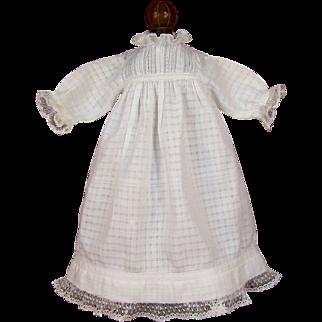 Beautiful Antique Doll Dress w/ Full Slip