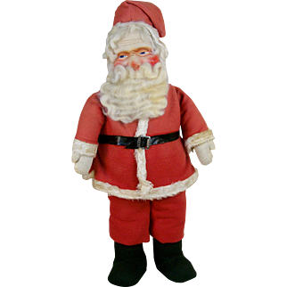 Fabulous Large Cloth Santa with Mask Face