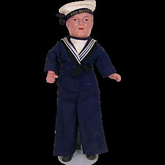 "17"" All Original H.M.S. Reliable Sailor Doll"