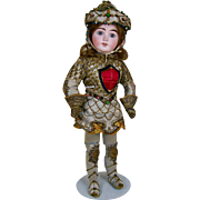 Extraordinary Sonneberg Bebe Originally Costumed as Joan of Arc