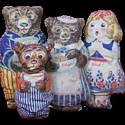 Kellogg's Goldilocks & The Three Bears Advertising Dolls