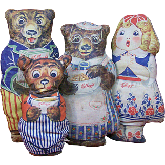 Kellogg's Goldilocks & The Three Bears Advertising Dolls