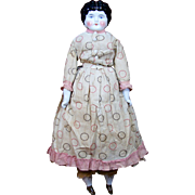 "24.5"" German China Head Doll with Original Clothes"