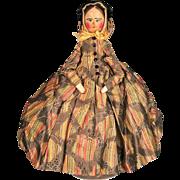 All Original Antique Grodnertal Peg-Wooden Doll