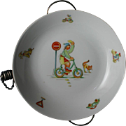 Best ART DECO Baby Child's Feeding Warmer Dish Bowl